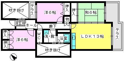グランドール藤本 / 102号室間取り