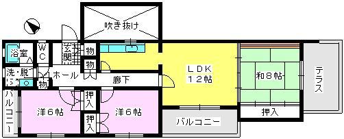 グランドール藤本 / 105号室間取り