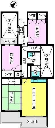 グランドール藤本 / 303号室間取り