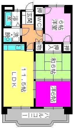 タウンコート志免 / 203号室間取り