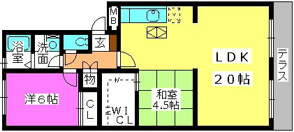 エクセルE・F / 102号室間取り