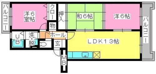 エクセル工藤 / 203号室間取り