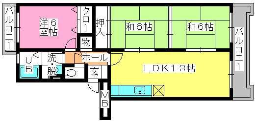 エクセル工藤 / 403号室間取り