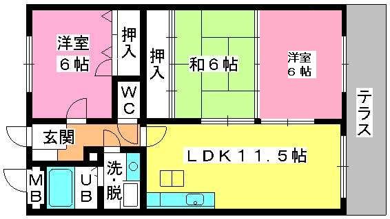 コムフォート・シティ / 102号室間取り