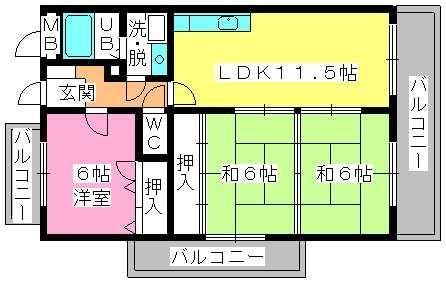 コムフォート・シティ / 201号室間取り