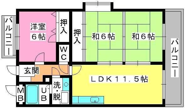 コムフォート・シティ / 203号室間取り