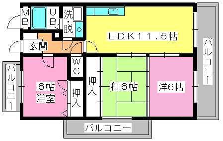 コムフォート・シティ / 301号室間取り