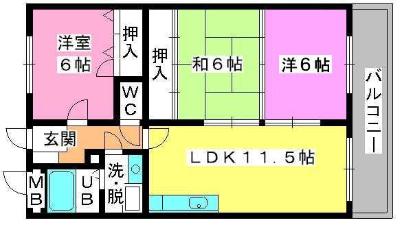 コムフォート・シティ / 302号室間取り