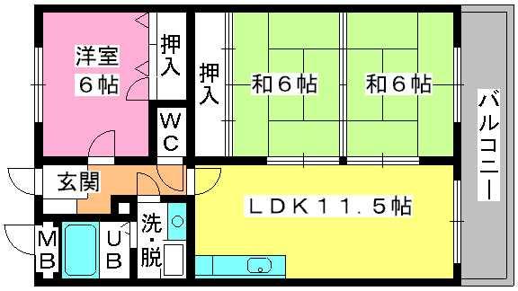 コムフォート・シティ / 402号室間取り
