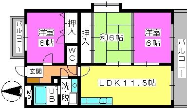 コムフォート・シティ / 403号室間取り