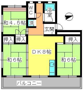 工藤ビル / 401号室間取り