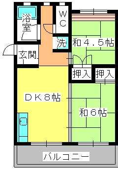 工藤ビル / 402号室間取り