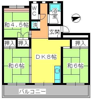 工藤ビル / 403号室間取り