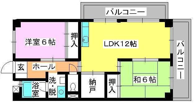 シティハイツ篠栗 / 301号室間取り