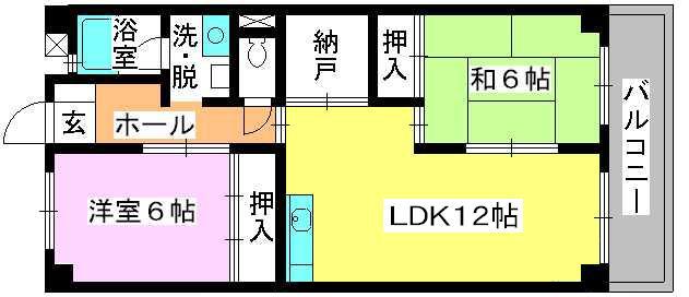 シティハイツ篠栗 / 302号室間取り