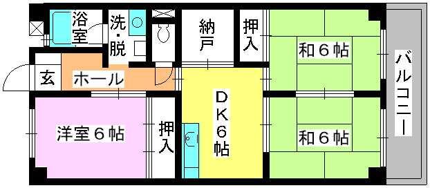 シティハイツ篠栗 / 402号室間取り