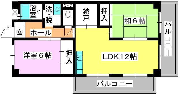 シティハイツ篠栗 / 505号室間取り