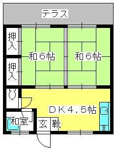 テンハイツ / 105号室間取り