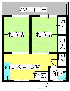 テンハイツ / 201号室間取り