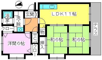 レジデンス・ウィステリア24 / 101号室間取り