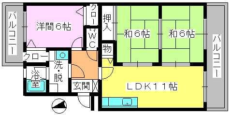 レジデンス・ウィステリア24 / 202号室間取り