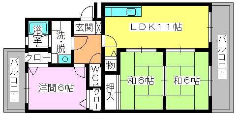 レジデンス・ウィステリア24 / 203号室間取り