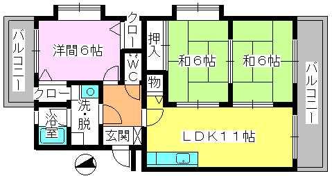 レジデンス・ウィステリア24 / 207号室間取り