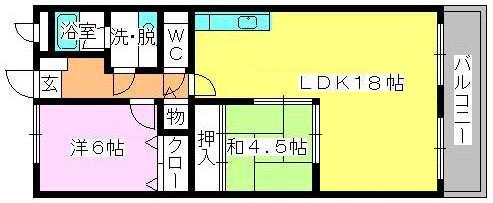 エースワン粕屋 / 202号室間取り