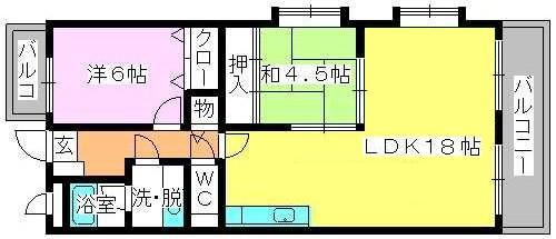 エースワン粕屋 / 203号室間取り