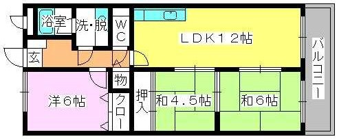 エースワン粕屋 / 302号室間取り