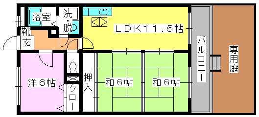 セントレージ博多 / 103号室間取り