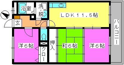 セントレージ博多 / 203号室間取り