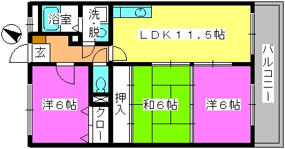 セントレージ博多 / 303号室間取り