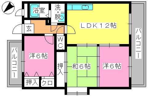 エントピア空港東(ペット可) / 203号室間取り