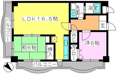 サンヒルズTAKEDAⅡ / 201号室間取り