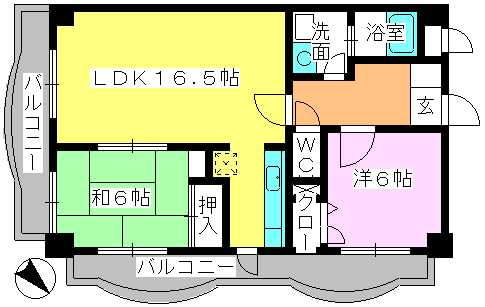 サンヒルズTAKEDAⅡ / 301号室間取り