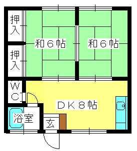 コーポ上野 / 101号室間取り