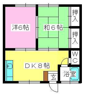 コーポ上野 / 103号室間取り