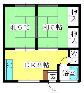 コーポ上野 / 106号室間取り