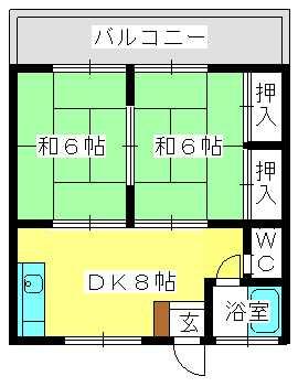 コーポ上野 / 202号室間取り