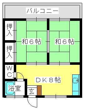 コーポ上野 / 205号室間取り