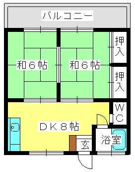コーポ上野 / 206号室間取り