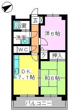 ラフィーネ篠栗 / 402号室間取り