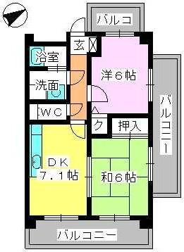 ラフィーネ篠栗 / 403号室間取り