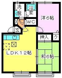 メロディハイツ戸原 / A-103号室間取り