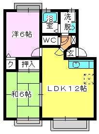メロディハイツ戸原 / A-202号室間取り