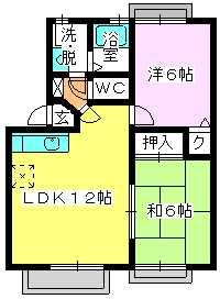 メロディハイツ戸原 / A-203号室間取り