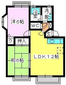 メロディハイツ戸原 / A-205号室間取り