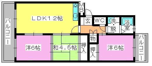 エステート篠栗 / 102号室間取り