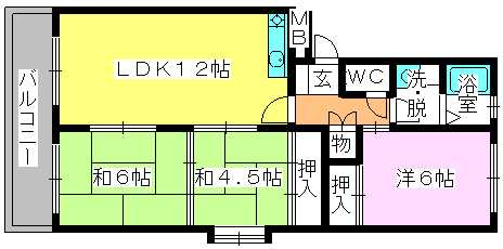 エステート篠栗 / 105号室間取り
